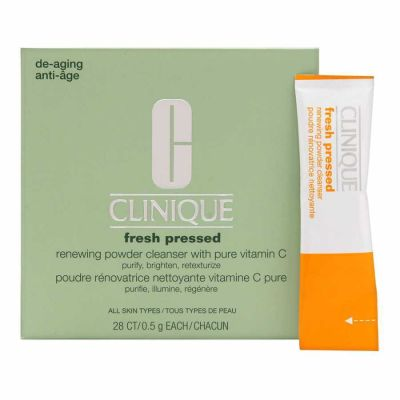 Clinique - Clinique Fresh Pressed Renewing Powder Cleanser With Pure Vitamin C 28 x 0.01 oz
