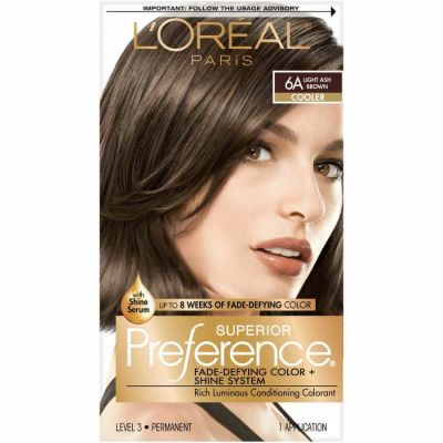 L'Oreal - LOreal Superior Preference Fade-Defying Color 6A Light Ash Brown - Cooler 1 Application
