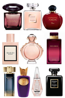Best Perfume - Only KSA Women Set - P.Rabanne - Versace - Estee Lauder - Givenchy - Gucci - Chanel - D&G - Chanel - C.Dior - Sospiro