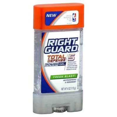 Right Guard - Right Guard Total Defense 5 Power Gel Antiperspirant Deodorant Fresh Blast 4 oz